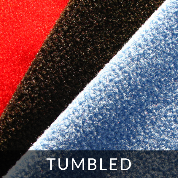 Finishing polar fleece: tumbled