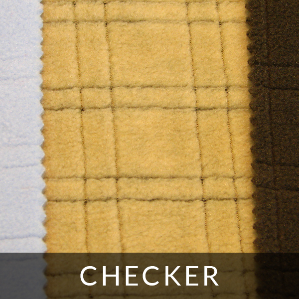 Finishing polar fleece: checker
